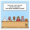 Cartoon: Trump Supreme Court (small) by Timo Essner tagged donald,trump,us,elections,potus,supreme,court,kkk,ku,klux,klan,chuck,norris,bill,cosby,sarah,palin,michael,cohen,cheetos,cartoon,timo,essner