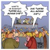 Cartoon: We are all gonna dye (small) by Timo Essner tagged we,re,all,gonna,dye,die,heavy,metal,hardrock,music,concert,singer,vocals,lyrics,obvious,misunderstanding,cartoon,timo,essner