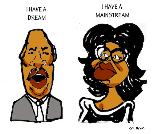 Cartoon: Oprah (medium) by Carma tagged oprah,winfrey,martin,luther,king