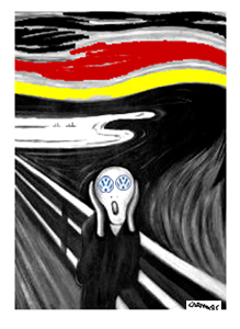 Cartoon: Scream (medium) by Carma tagged volkswagen,munch