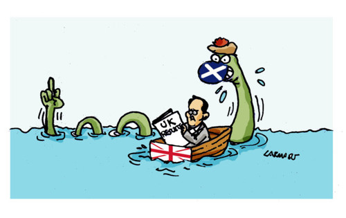 Cartoon: UK Elections (medium) by Carma tagged david,cameron,loch,ness,scotland,uk,elections