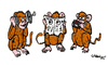 Cartoon: 3 Monkeys (small) by Carma tagged spying,animals,monkeys