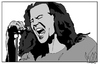 Cartoon: Eddie Vedder (small) by Carma tagged eddie vedder pearl jam famous people music rock grunge