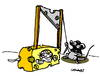 Cartoon: Guillotine (small) by Carma tagged animals,mouse,guillotine,cats,cheese