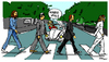 Cartoon: Kloppey Road (small) by Carma tagged jurgen,klopp,beatles,abbey,road,liverpool