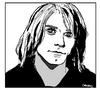 Cartoon: Kurt Cobain (small) by Carma tagged kurt cobain nirvana music grunge rock celebrities
