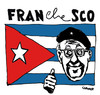 Cartoon: Pope and Cuba (small) by Carma tagged pope,francesco,che,guevara,cuba,raul,castro