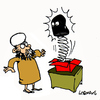 Cartoon: Surprise (small) by Carma tagged terrorism,islam,muslim,jack,in,the,box