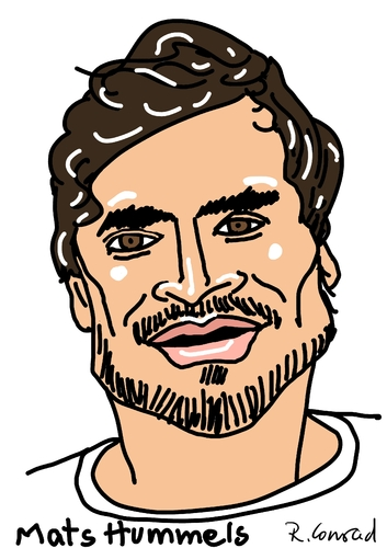 Cartoon: Mats Hummels (medium) by Ralf Conrad tagged mats,hummels,wm,2014