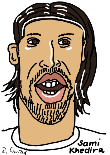 Cartoon: Sami Khedira (medium) by Ralf Conrad tagged sami,khedira,wm,2014