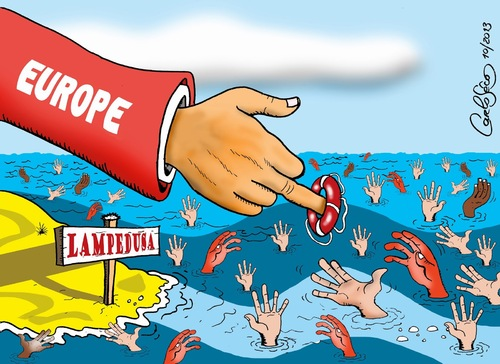 Tragedy In Lampedusa By Carloseco Politics Cartoon Toonpool