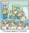 Cartoon: TP0196christmasrspcaturkey (small) by comicexpress tagged christmas,xmas,meal,roast,dinner,turkey,food,rspca,animal,protection,poultry