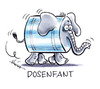 Cartoon: Dosenfant (small) by Hoevelercomics tagged dosenpfand