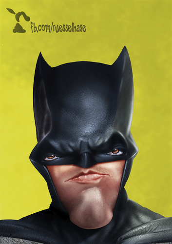 Cartoon: Batman (medium) by Rüsselhase tagged batman,benaffleck,superman