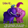 Cartoon: Elefantenliebe (small) by Rüsselhase tagged elefanten,liebe,dick,blau,rosa
