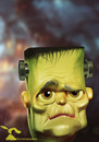 Cartoon: Frankensteins Monster (small) by Rüsselhase tagged frankenstein halloween monster