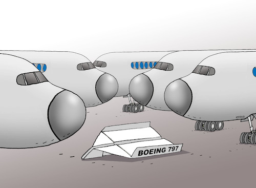 Cartoon: air797 (medium) by kotrha tagged air,boeing