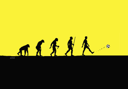 Cartoon: evolfut (medium) by kotrha tagged football,soccer