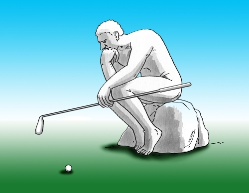 Cartoon: golfdum (medium) by kotrha tagged humor