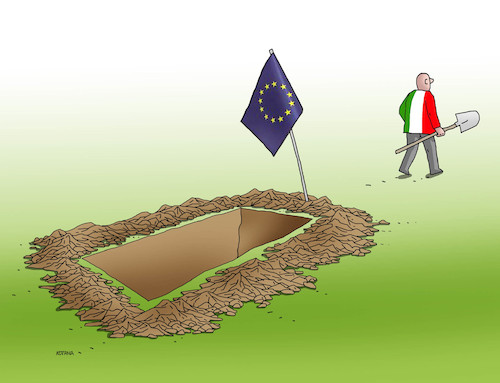 Cartoon: itahrob (medium) by kotrha tagged eu,euro,italy,lira,europe,world,elections,conti