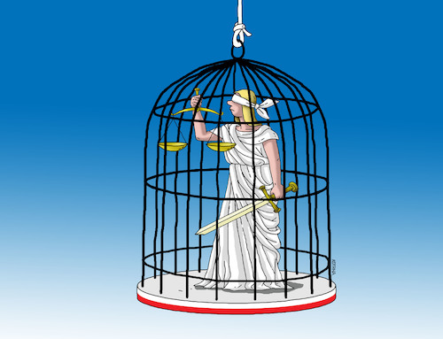 Cartoon: justiklietka (medium) by kotrha tagged poland,justice,democracy,dictator,freedom,peace,war,eu,world