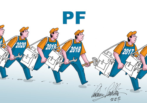 Cartoon: pf2018a (medium) by kotrha tagged happy,new,year,2018