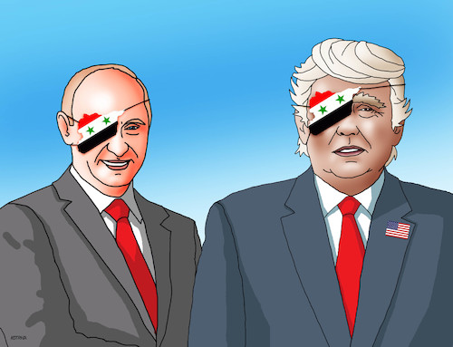 Cartoon: putrump (medium) by kotrha tagged assad,syria,war,trump,putin,usa,russia,world