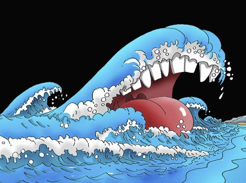 Tsunami By Kotrha Nature Cartoon Toonpool