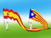 Cartoon: catakspainflag (small) by kotrha tagged catalonia,independence,spain,europa,barcelona,madrid