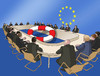 Cartoon: eukoleso16 (small) by kotrha tagged eu,summit,bratislava,slovakia,europe,sos,euro,world