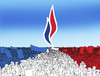 Cartoon: francefront2 (small) by kotrha tagged france,vote,elections,marine,le,pen,national,hollande,sarkozy