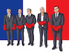 Cartoon: franceprezidents (small) by kotrha tagged france,president,election,europa,the,world,euro,dollar