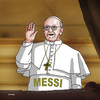 Cartoon: francismessi (small) by kotrha tagged new,pope,neue,papst,konklave,conclave
