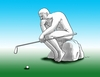 Cartoon: golfdum (small) by kotrha tagged humor
