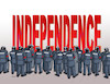 Cartoon: independ (small) by kotrha tagged catalonia,independence,spain,europa,barcelona,madrid