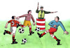 Cartoon: krizovatka (small) by kotrha tagged soccer