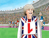 Cartoon: mayone2 (small) by kotrha tagged british,election,theresa,may,jeremy,corbyn,brexit,eu,world,libra,euro,dollar