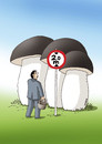 Cartoon: mushrooms 02 (small) by kotrha tagged mushrooms,autumn,forest,weather,food
