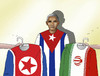 Cartoon: obamatrika (small) by kotrha tagged usa,obama,world,iran,kuba,korea