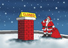 Cartoon: santaclosed (small) by Lubomir Kotrha tagged christmas,santa