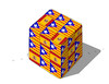 Cartoon: spainrubik (small) by kotrha tagged catalonia,election,independence,spain,europe,euro,world