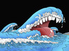 Cartoon: tsunami (small) by kotrha tagged no