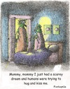 Cartoon: night and days mares (small) by armadillo tagged kids,monsters,nightmare