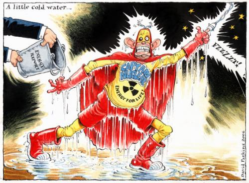 Cartoon: Captain Nuclear (medium) by DavidP tagged nuclear,energy,blair