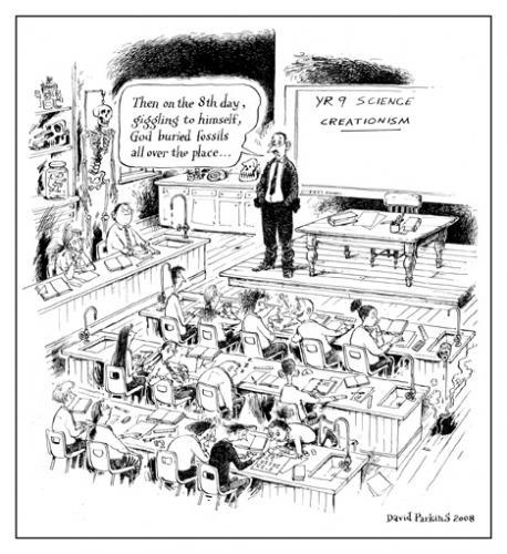 Cartoon creationism medium by davidp tagged science creationism