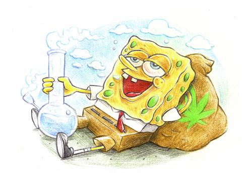 Bong Sponge resting on a bag By Trippy Toons   Media ...