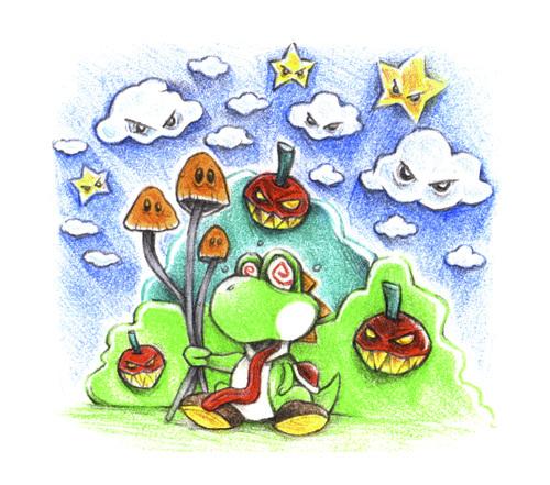 Yoshi Mushroom By Trippy Toons Media Culture Cartoon Toonpool