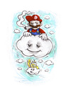 Cartoon: Mario lifted (small) by Trippy Toons tagged super,mario,trippy,marihu,weed,cannabis,stoner,kiffer,ganja,video,game