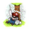 Cartoon: Mario pausing (small) by Trippy Toons tagged super,mario,trippy,marihu,weed,cannabis,stoner,kiffer,ganja,video,game