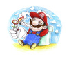 Cartoon: Mario relaxing (small) by Trippy Toons tagged super,mario,trippy,marihu,weed,cannabis,stoner,kiffer,ganja,video,game